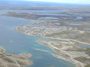 Cambridge Bay Water Aerodrome - Image: Float base CJD7