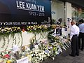 Floral tributes to Lee Kuan Yew outside High Street Centre, Singapore - 20150327.jpg