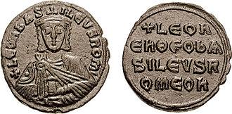Basileus - Image: Follis Leo VI sb 1729