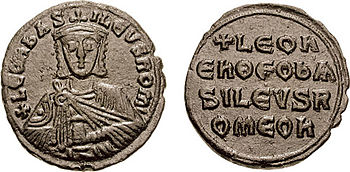 Münze (Follis) Leos VI.