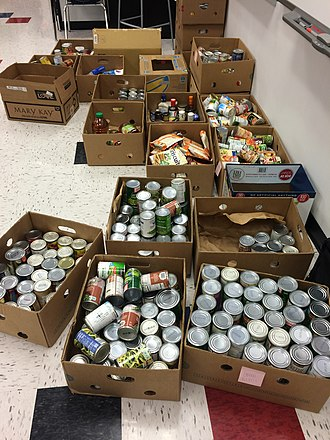 Liberty High School (Lake St. Louis, Missouri) - Annual food drive