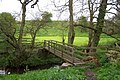 Footbridge over the Cow Close Burn at witton Shields - geograph.org.uk - 432562.jpg