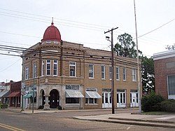 The historic Fordyce Home Accident Insurance Company building in downtown Fordyce, 2007