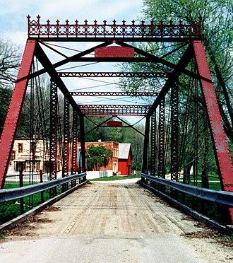 Forestville Mystery Cave State Park - Historic bridge to Forestville