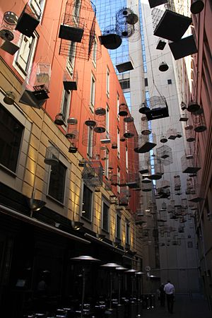 Forgotten Songs Installation, Angel Place, Sydney, Australia, Aug 2016