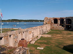 Fort Popham and the Atkins Bay arm of the Kennebec River.jpg