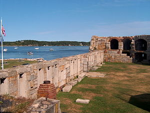 Fort Popham - Fort Popham and the Kennebec River