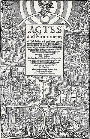 Title page of John Foxe's Book of Martyrs.