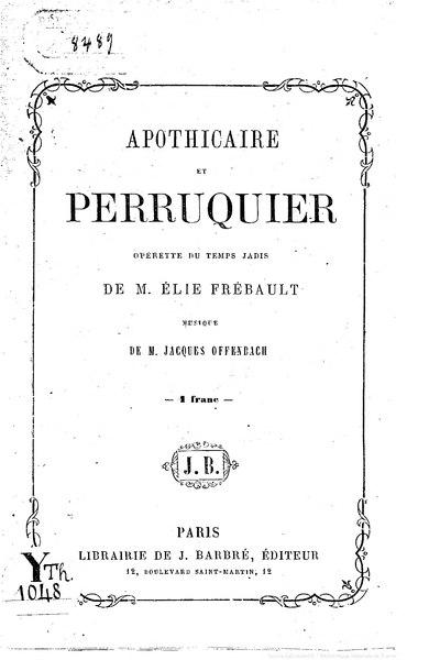 File:Frébault - Apothicaire et perruquier.djvu