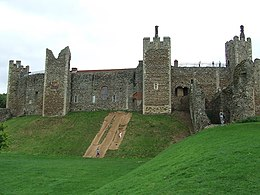 A photograph of the ruins of Framlingham Castle in Suffolk