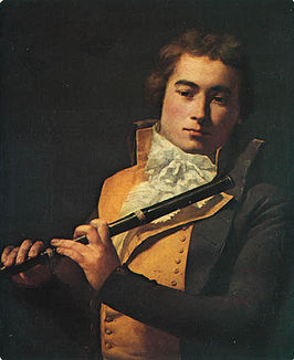 Portret van François Devienne door Jacques-Louis David