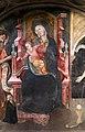 Francesco zacchi detto il balletta, madonna in trono col bambino, il battista e una committente, sangue di cristo dell'eucarestia, xv secolo 03.jpg