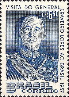 Francisco Craveiro Lopes 1957 Brazil stamp.jpg