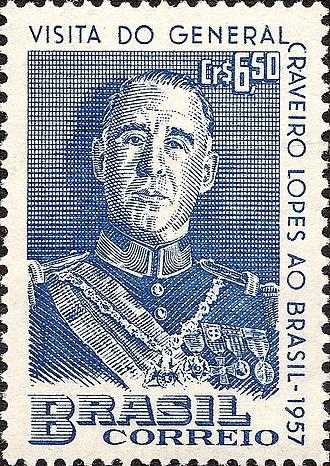 Francisco Craveiro Lopes - Image: Francisco Craveiro Lopes 1957 Brazil stamp