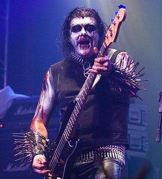 "Frank Watkins (musician) - Watkins performing with Gorgoroth as ""Bøddel"". Photo by Alexandre Cardoso."
