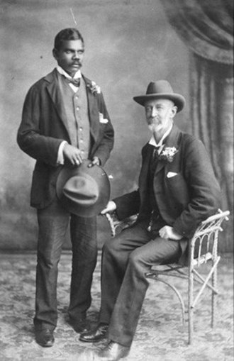 Frank Hann - Frank Hann (right) with his native assistant Talbot