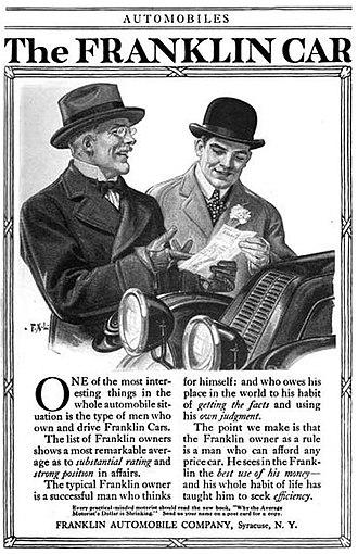 Franklin (automobile) - Advertisement 1916