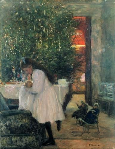 Franz Skarbina Unter dem Weihnachtsbaum