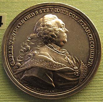 Gerard van Swieten - Medal of 1772 featuring van Swieten