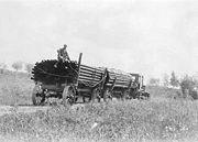 Freighting on Yukon Highway near Goldstream-cropped