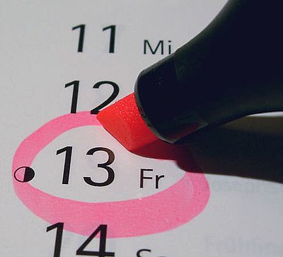 Friday the 13th in a calendar Freitag der 13. im Kalender.jpg