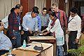 Frictional Electricity Demonstration - Indo-Finnish-Thai Exhibit Development Workshop - NCSM - Kolkata 2014-12-03 0838.JPG