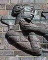 Friedhof Ohlsdorf (Hamburg-Ohlsdorf).Neues Krematorium.Bauschmuck.Kuöhl.Schwebender Engel mit betend erhobenen Händen.Detail.1.29622.ajb.jpg