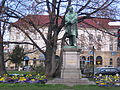 Friedrich List Statue in front of Reutlingen Main Train Station.jpg