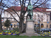 Friedrich List Statue in front of Reutlingen Main Train Station.jpg