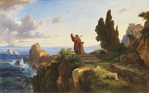 Friedrich Preller d.J. - Antike Szene in heroischer Landschaft (1876)