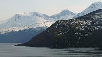 Ballangen - View of the Frostisen glacier