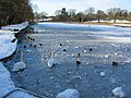 Frozen pool at Abbey Fields - geograph.org.uk - 1651256.jpg