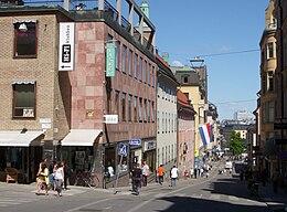 """Götgatan nordpå fra """"Götgatsbacken""""."""