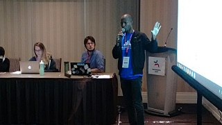 GLAM in West Africa lightning talk at Wikimania 2017 04.jpg
