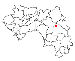 Location of Kankan in Guinea