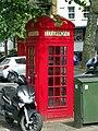 GOC Ally Pally 022 K2 telephone kisok, Highgate (28824240902).jpg