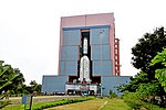 GSLV F11- Vehicle being moved from Solid Stage Assembly Building at SDSC SHAR.jpg