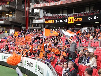 Greater Western Sydney Giants - The GWS Giants cheer squad.