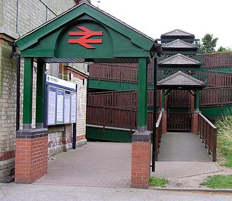 Gainsborough Lea Road railway station - Lea Road Station entrance