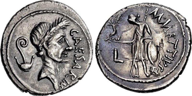 Gaius Julius Caesar, denarius, 44 BC, RRC 480-3