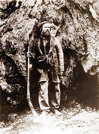 Galen Clark - Galen Clark in the Big Tree Grove