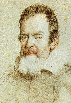 History of science in the Renaissance - Galileo Galilei. Portrait in crayon by Leoni