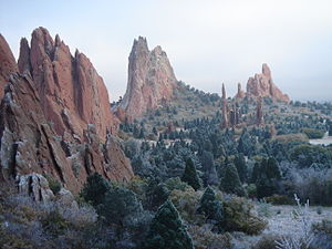 History of Colorado Springs, Colorado - The Garden of the Gods is one of the city's Pennsylvanian age's Fountain Formations. Another is the Red Rock Canyon Open Space