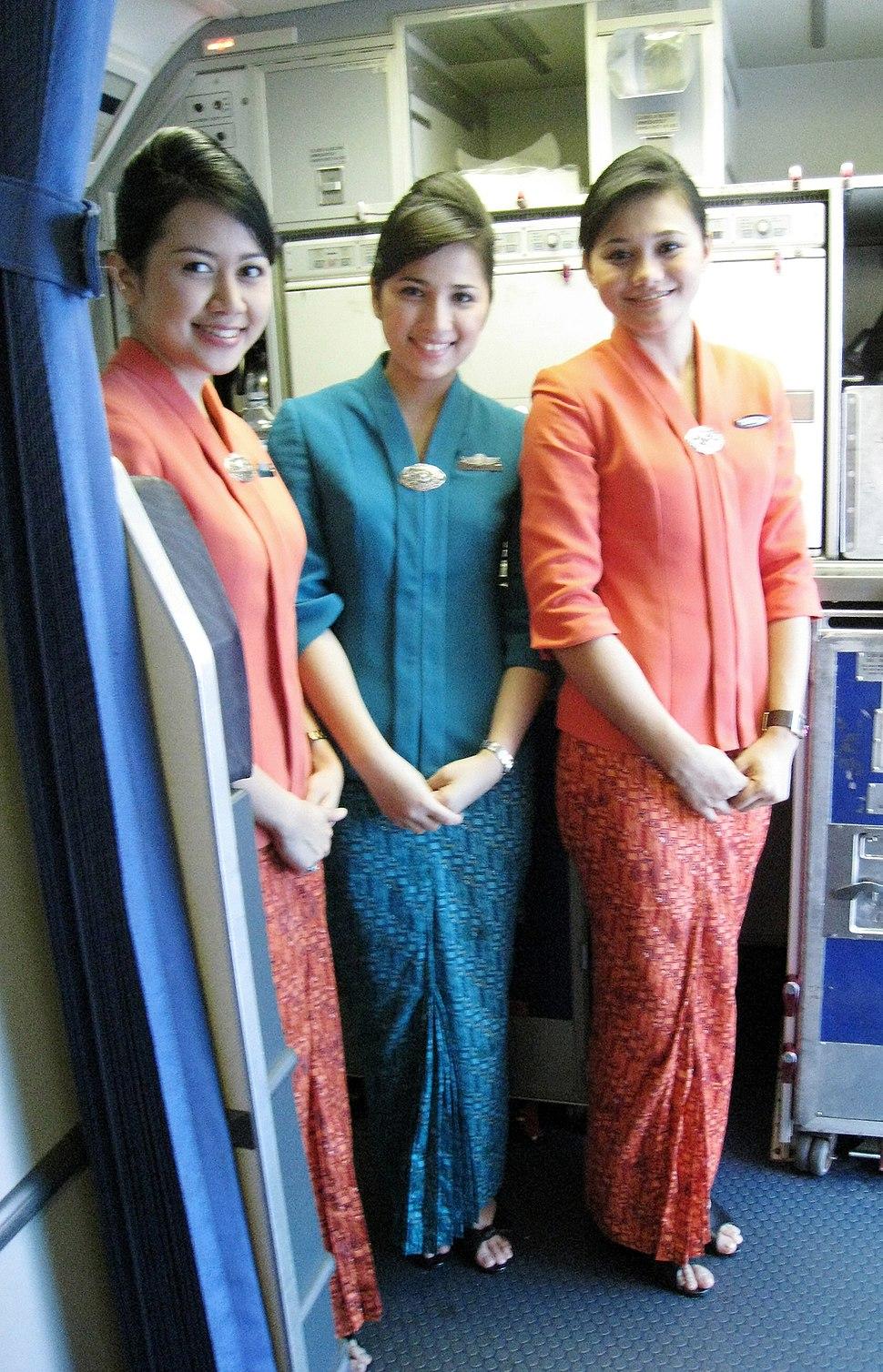Garuda Indonesia Flight Attendants in Kebaya