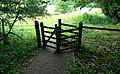 Gate on the Cotswold Way, near Dyrham - geograph.org.uk - 493232.jpg