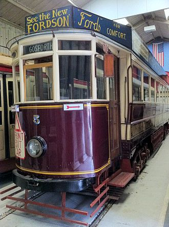 Gateshead and District Tramways Company - Tramcar 5 at the National Tramway Museum
