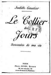Judith Gautier: Le Collier des jours