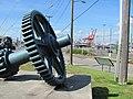 Gear on display from old Spokane Street Bridge (6111564128).jpg