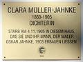 Gedenktafel Lassallestr 67 (Wilhh) Clara Müller-Jahnke.jpg