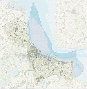 Delfzijl - 2015 map of the municipality
